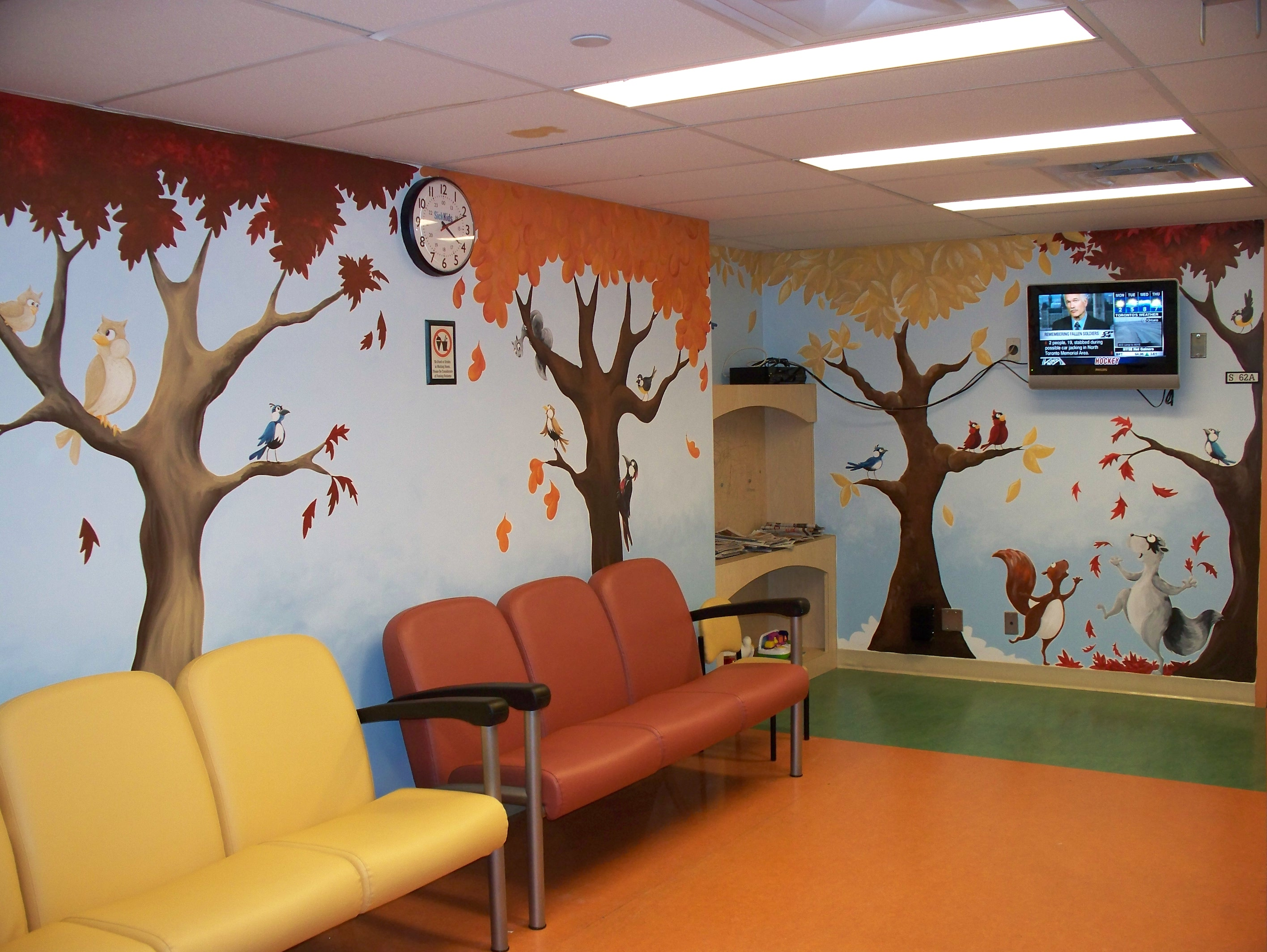 Sick kids mri waiting room susy bee for Kids waiting room furniture