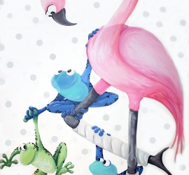 Flamigo and Frogs – Sick Kids Fracture Clinic