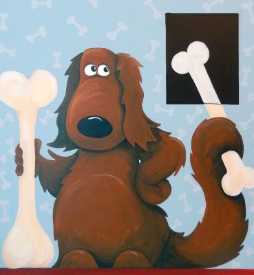 X-Ray Dog and Bone