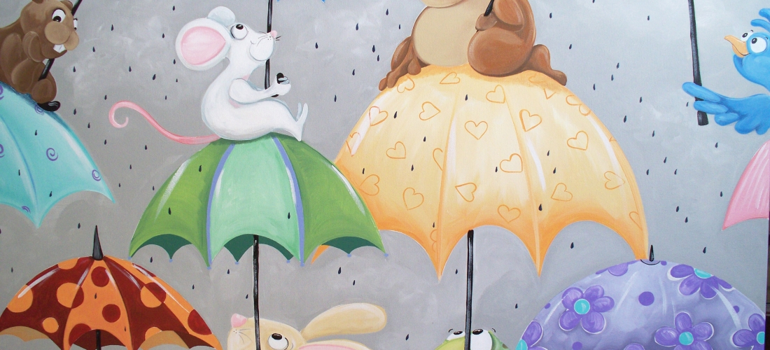 Animals with Umbrellas