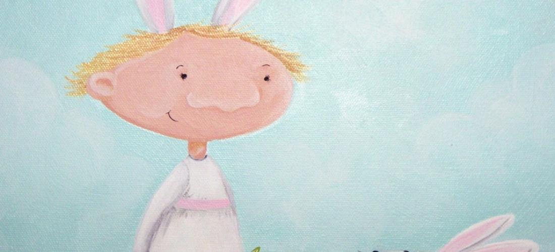 Blonde Hair Bunny Ears