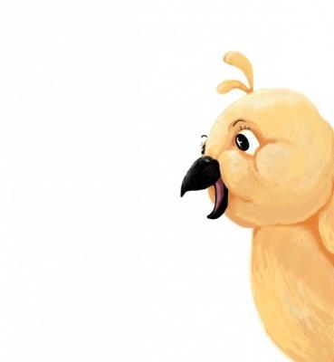 yellow postcard bird