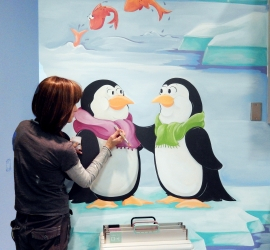 Susy Painting Penguins