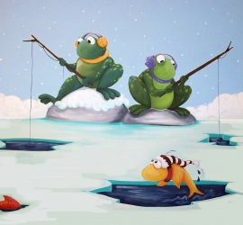 Frogs Fishing
